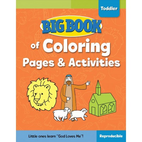 Big Book of Coloring Pages and Activities for Toddlers (Paperback ...