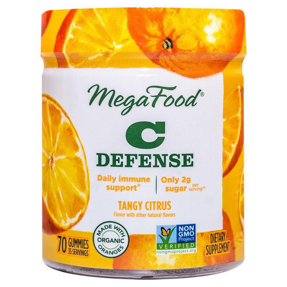 Megafood Vitamin C Defense Vegan Gummies Tangy Citrus 70ct