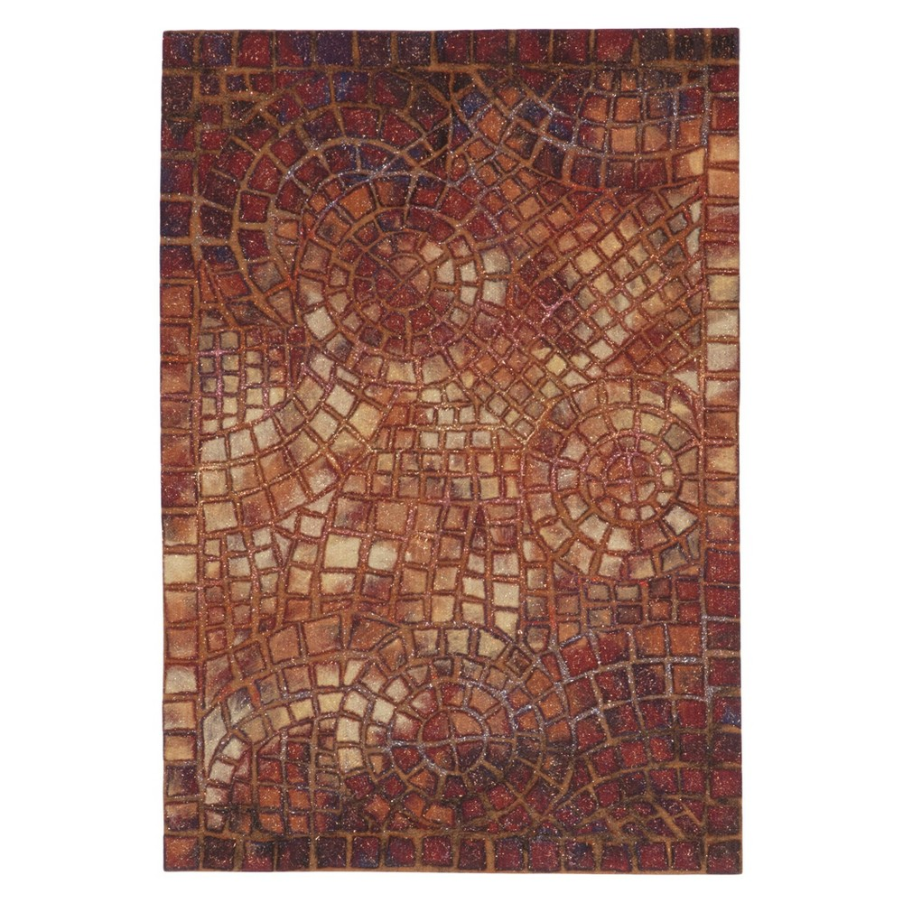 Red Classic Pressed/Molded Accent Rug - (2'x3') - Liora Manne