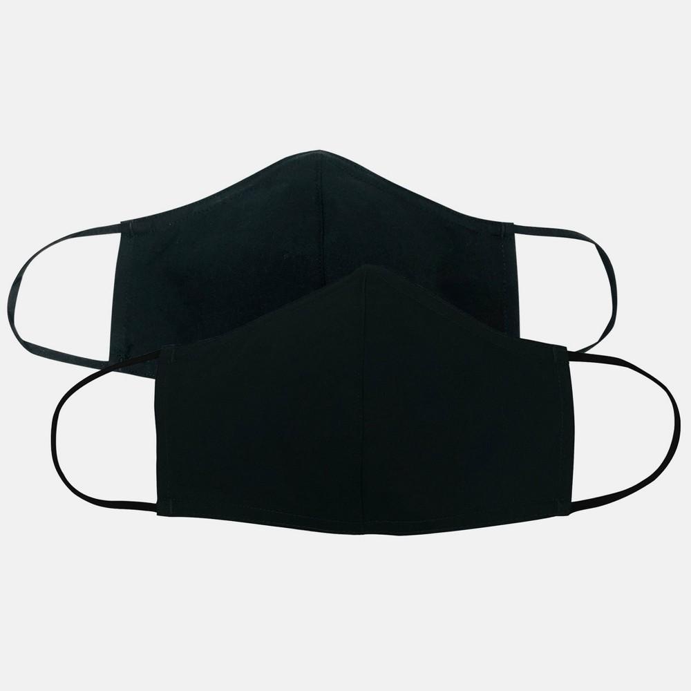 Adult 2pk Cloth Face Mask Black S M