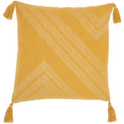 """20""""x20"""" Oversize Metallic Embroidered Square Throw Pillow - Kathy Ireland Home"""