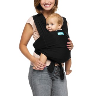 Moby Adjustable Fit Wrap Baby Carrier - Black