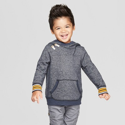 Genuine Kids® from OshKosh Toddler Boys' Herringbone Pullover with Tipping - Navy 18M