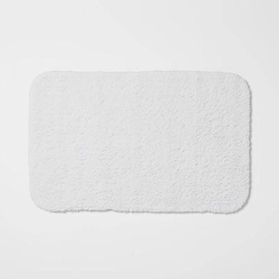 "23""x37"" Perfectly Soft Nylon Solid Bath Rug White - Opalhouse™"