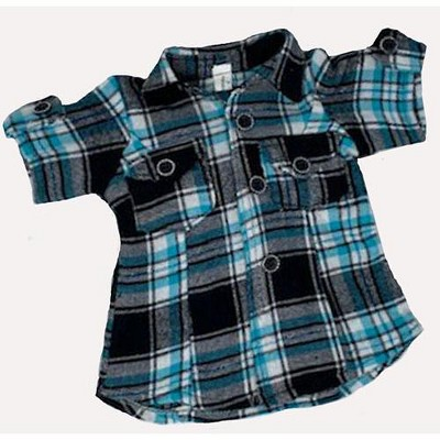 Doll Clothes Superstore Plaid Shirt Style Dress Fits 15-16 Inch Baby Dolls