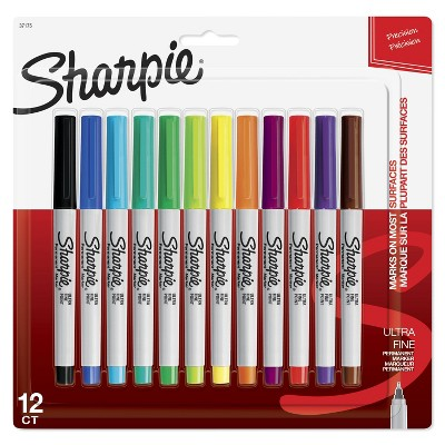 Sharpie 12pk Permanent Markers Ultra Fine Multicolor