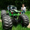 Monster Jam Official Mega Grave Digger All-Terrain Remote Control Monster Truck with Lights - 1:6 Scale - image 3 of 4