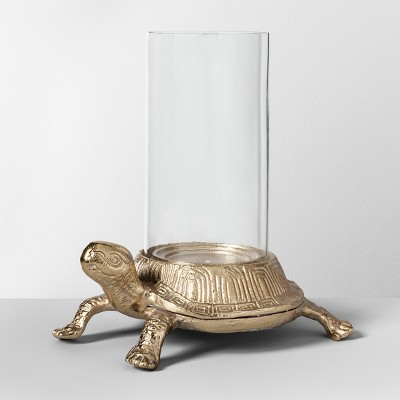 11  Turtle Outdoor Hurricane Lantern Gold - Opalhouse™