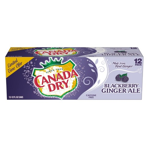 Canada Dry Blackberry Ginger Ale - 12pk/12 fl oz Cans - image 1 of 3