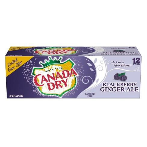Canada Dry Blackberry Ginger Ale 12pk12 Fl Oz Cans Target