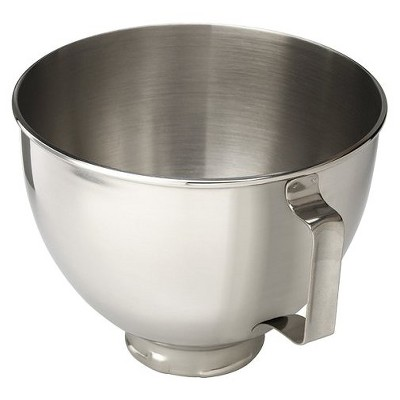 KitchenAid 4.5 Quart Polished Stainless Steel Mixer Bowl with Handle - K45SB