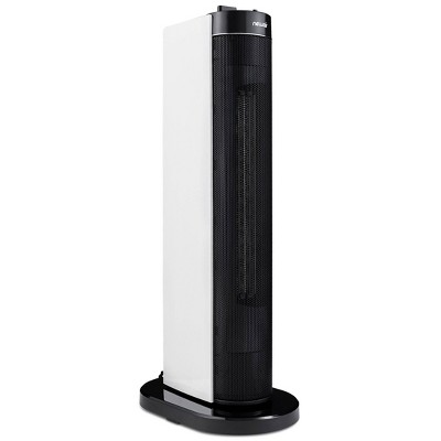 NewAir 1500W Electric Compact Portable Ceramic Tower Heater White/Black