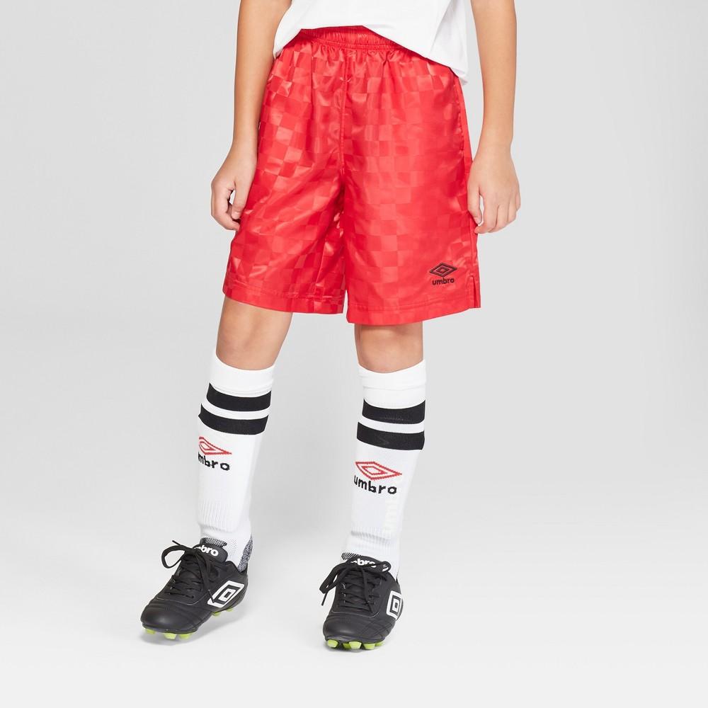 Umbro Boys' Checkerboard Shorts - Red XL Husky