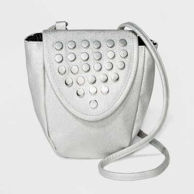 a5a2377fd0 Mini Stud Crossbody Bag – Wild Fable™ Silver – Target Inventory ...