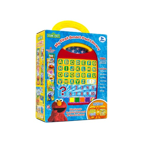 Sesame Street Electronic Smart Pad and 8-book Boxed Set Library - image 1 of 21