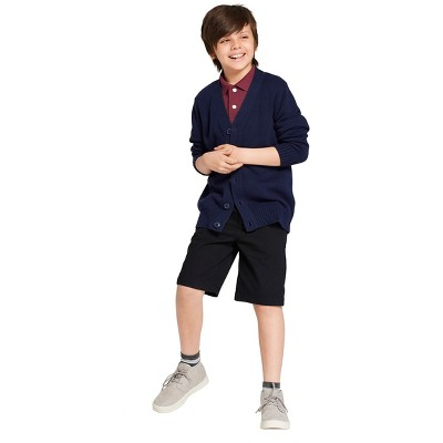 Boys' V-Neck Uniform Button-Front Cardigan - Cat & Jack™
