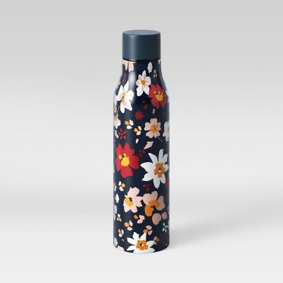 20oz Stainless Steel Vacuum Water Bottle Multi Color Daisies Blue - Room Essentials™