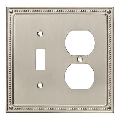Franklin Brass Classic Beaded Switch/Duplex Wall Plate Nickel