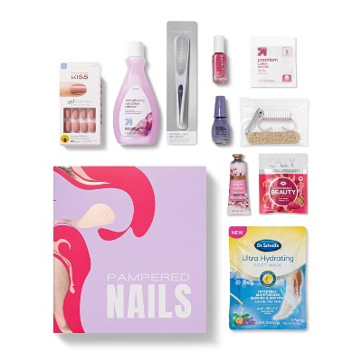 Target Beauty Capsule Pampered Nails Bath and Body Gift Set - 10ct
