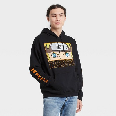 Men's Naruto Hooded Graphic Sweatshirt - Black