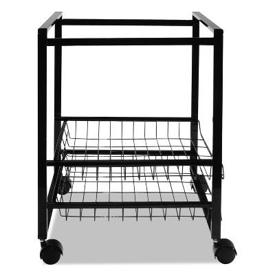 Advantus Mobile File Cart W/Sliding Baskets 12 7/8w X 15d X 21 1/8h Black 34075 : Target