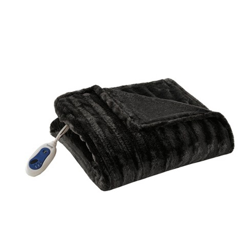 Electric Duke Faux Fur Throw - Beautyrest - image 1 of 4