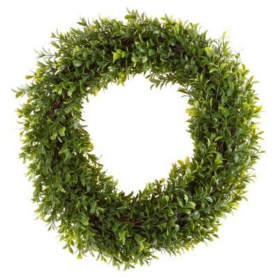 Round Artificial Hedyotis Wreath 15  - Pure Garden