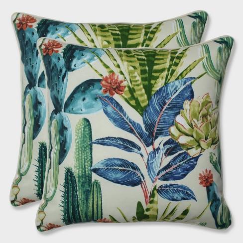 "18.5"" 2pk Hatteras Garden Throw Pillows Black - Pillow Perfect - image 1 of 1"