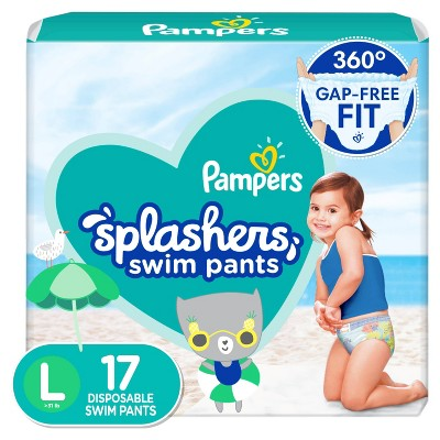 Pampers Splashers Disposable Swim Pants - (Select Size and Count)