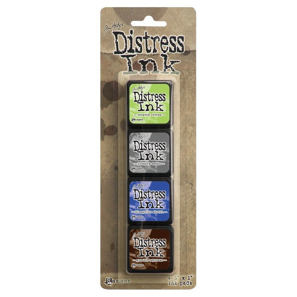 "Image of ""Distress Mini Ink Pads Kit 14-Asst Colors 4""""x1"""""""