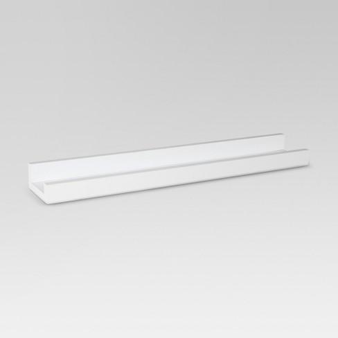"23"" x 4"" Picture Ledge Shelf White - Threshold™ - image 1 of 4"