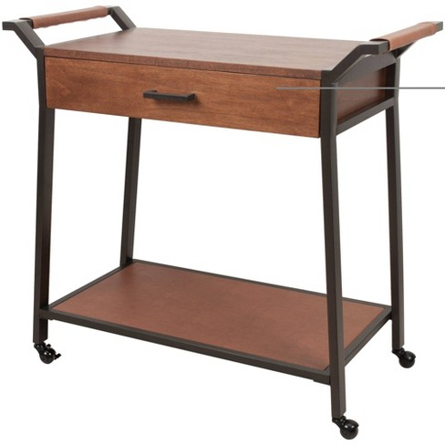 Industrial Kitchen Cart with Drawer Black - Silverwood - image 1 of 1