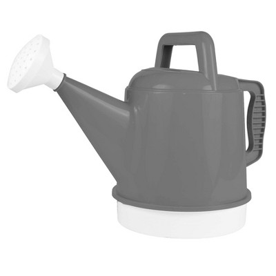 2.5gal Deluxe Watering Can Charcoal - Bloem