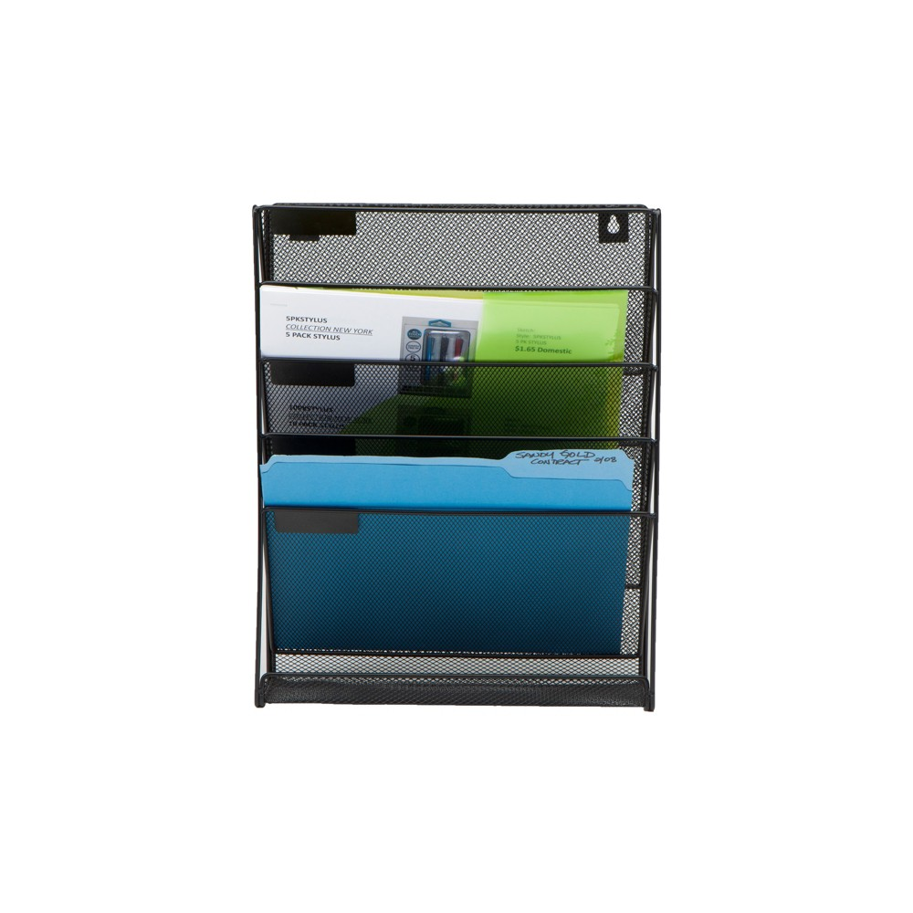 Image of 4 Tier Mesh Document Holder Black - Mind Reader