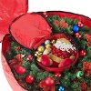 "36"" Holiday Christmas Wreath Storage Bag Red - Elf Stor - image 3 of 4"