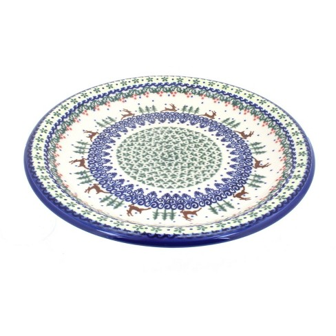Blue Rose Polish Pottery Reindeer Delight Dinner Plate - image 1 of 1