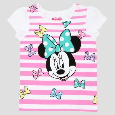 365e7d21a Toddler Girls Minnie Mouse T-Shirt Disney® White 12M – Target ...