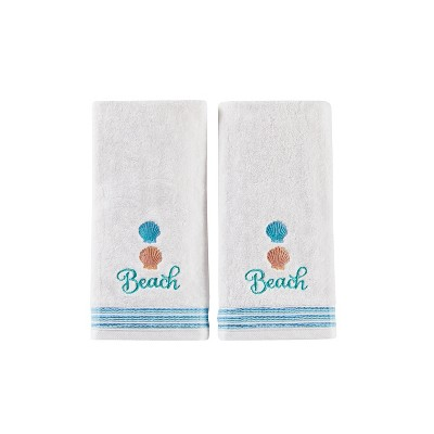 2pc South Seas Hand Towel Set White - Saturday Knight Ltd.