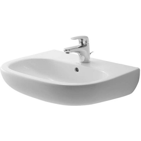 """Duravit 2310550030 D-Code 21-5/8"""" Ceramic Bathroom Sink for Wall Mounted or Pedestal Installations - image 1 of 1"""