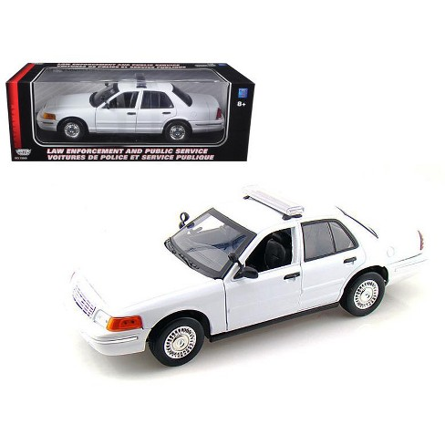 2001 Ford Crown Victoria Unmarked White Police Car 1/18 Diecast Model Car by Motormax - image 1 of 1