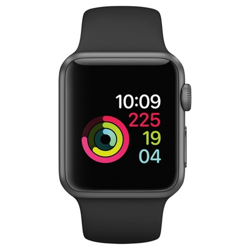 e43ea7eca Apple Watch Series 1 38mm Space Gray Aluminum Case With Black Sport Band :  Target