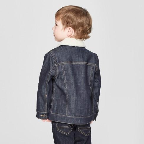 d777cd60 Genuine Kids® from OshKosh Toddler Boys' Trucker Track Jacket with Sherpa  Collar - Dark Blue 18M : Target