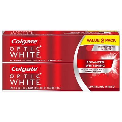 Colgate Optic White Whitening Toothpaste Sparkling White - 5oz/2pk
