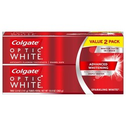 Colgate Optic White Whitening Toothpaste Sparkling White - 5oz/2pk