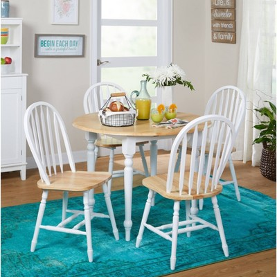 5pc Double Drop Leaf Dining Set Wood - Buylateral