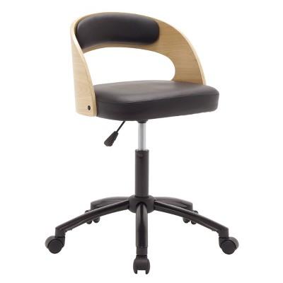 Ashwood Task Chair Black/Ashwood - Calico Designs