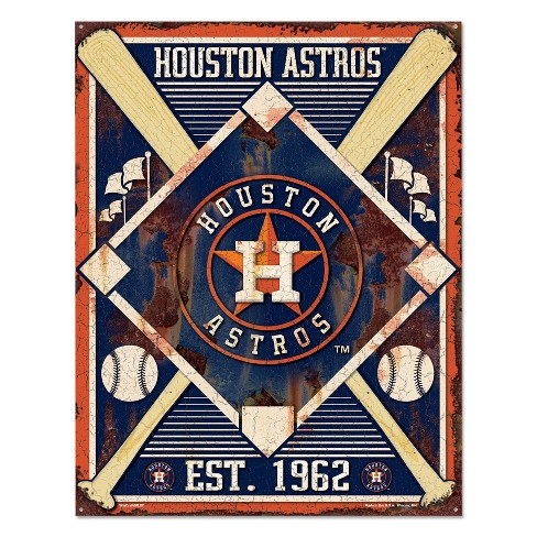 MLB Houston Astros Metal Sign - image 1 of 1
