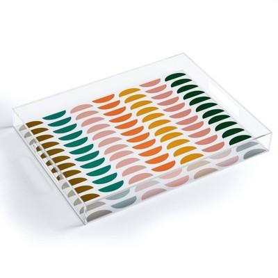 """17"""" x 14"""" Acrylic June Journal Retro Geometrics Tray - society6"""