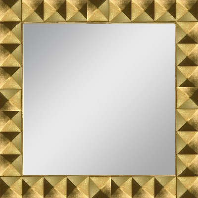Square Pyramid Framed Decorative Wall Mirror Gold Leaf - PTM Images