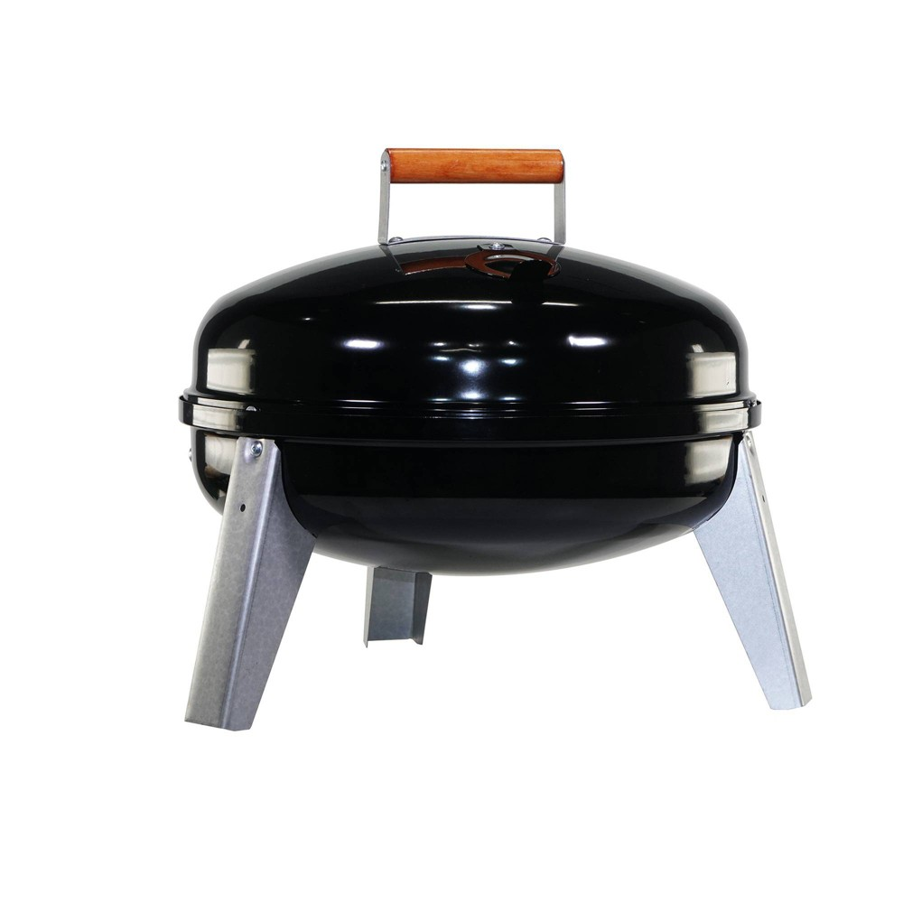 Image of Americana 2010 Lock & Go Charcoal Grill - Black - Meco